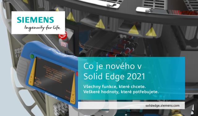 Všechny funkce, které chcete. Solid Edge 2021.